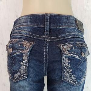 Silver Suki Flap Bootcut Jean 29 × 33 Waist 31